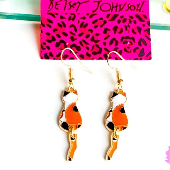 Betsey Johnson Style - Spanish Cat Drop Earrings